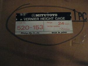 Mitutoyo 520 153 24 Vernier Height Gage aa8380 4242