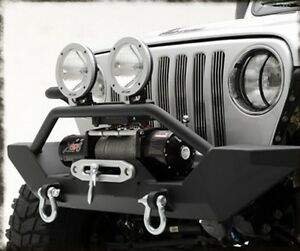 1997 2006 Jeep Wrangler Black Extreme Rock Crawler Front Bumper With Winch Plate