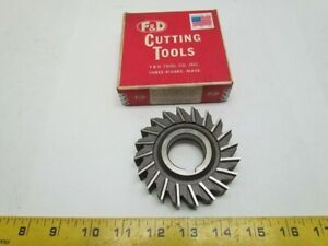 F d Cutting Tools Hs m2 3 1 2x3 4x1 1 4 Straight Tooth Side Milling Cutter 20 T