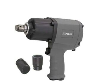 3 4 Air Impact Wrench Twin Hammer 1180 Ft lbs Torque Pro Automotive Shop Tool