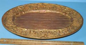 Antique Mixed Metals Dore Bronze Copper Brass Figural Country French Marked Tray