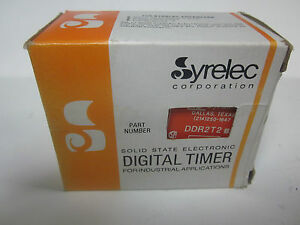 New Syrelec Solid State Electronic Digital Timer Ddr2t2 Bb mm 838