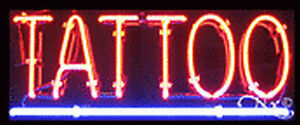 New tattoo 24x10x3 Underlined Real Neon Sign W custom Options 12171