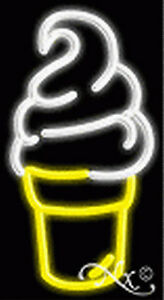 Brand New Ice Cream Cone Logo 20x11x3 Real Neon Sign W custom Options 12247