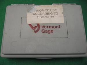 49 Vermont Gage Gauge Pin Class Zz No Go Rod Plug Hole Kit Set Zz 011 060