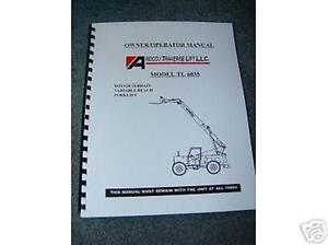 New Pettibone Traverse Forklift Tl 6035 Oper Manual