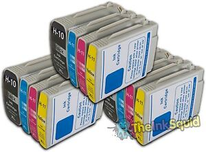 3 Sets Of Hp 10 Hp 11 Xl Chipped Compatible Ink Cartridges Photosmart Printers