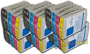6 Sets Of Hp 10 Hp 11 Xl Chipped Compatible Ink Cartridges Photosmart Printers