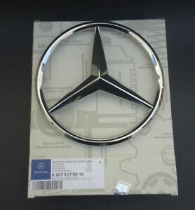 Mercedes benz Chrome Front Grill Star Emblem For C class E class 2008 2013