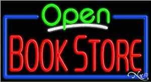 New open Book Store 37x20x3 Border Real Neon Sign W custom Options 15470