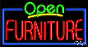 New open Furniture 37x20x3 Border Real Neon Sign W custom Options 15504