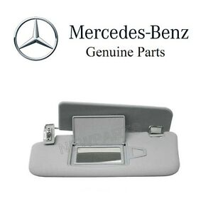 New For Mercedes W211 E320 E350 Driver Left Sun Visor Orion Grey With Mirror Oes
