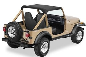 1987 1991 Jeep Wrangler Bimini Bikini Top In Black Denim