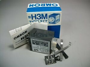 Omron Solid State Timer Relay H3m Series C 120vac 05 Sec 30 Min New Old Stock