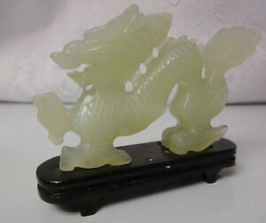 Antique Asian Chinese Jade Figurine Dragon Statue Beautiful