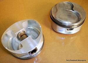 Je Used Sbc 18 Dome Forged Pistons 4 120 Bore 6 00 Rod 3 625 Stroke