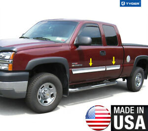 Tyger For 03 06 Chevy Silverado Extended Body Side Molding Trim 3 5 Wide 4pc