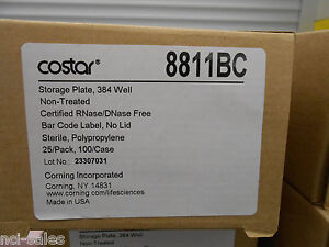 1 Box Of 25 Corning Costar 384 Well Storage Plates 8811bc