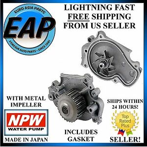 For 1993 2001 Honda Prelude 2 2l H22a1 Vtec Engine Japanese Npw Water Pump New