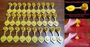 30 Yellow Vent Caps Gas Fuel Can Midwest Blitz Wedco Briggs Scepter Heavy Duty