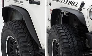 2007 2017 Jeep Wrangler Unlimited Xrc Metal Fender Flares Set Of Four In Black