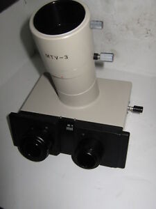 Olympus Trinocular Microscope Head With Mtv 3 Adapter no Lens In Adapter