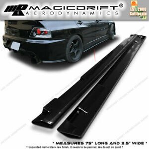 Universal Jdm Bottom Line Style Poly Urethane Pu Side Skirts 75 X 3 5