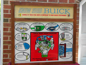 63 64 65 66 67 Buick Dealership Service Lighted Sign Nail Head Riviera Stage 1