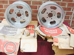 1969 Rocket Trac Master Nos Aluminum Slot Wheels 14x7 5 X 4 3 4 Bc Gm Street Rod