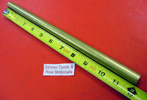 5 8 C360 Brass Round Rod 12 Long Solid New Lathe Bar Stock 625 H02