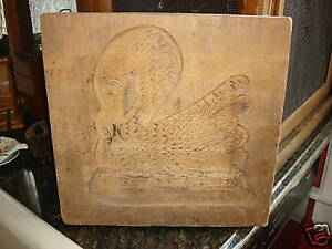 Antique Wooden Sugar Candy Mold Swan