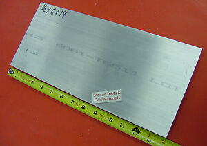 1 2 X 6 Aluminum 6061 Solid Flat Bar 14 Long Extruded Plate Mill Stock New