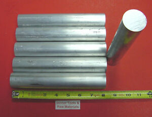 6 Pieces 1 3 8 Aluminum 6061 Round Rod 8 Long Solid T6511 Bar Stock 1 375