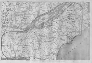 Civil War Map 1862 United States Territory Still Under Insurrectionary Control
