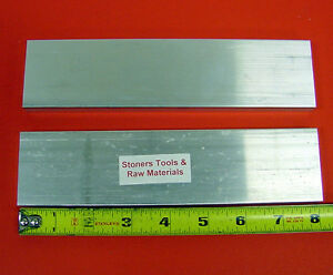 2 Pieces 1 2 x 2 Aluminum 6061 T6511 Flat Bar 8 Long Extruded Plate Mill Stock