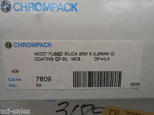 Chrompack Gas Chromatography Wcot Fused Silica Gc Column 7809