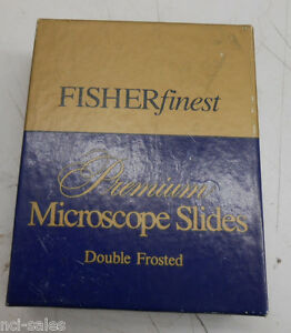 1 Box Of 72 Fisher Finest Premium Double Frosted Microscope Slides 12 544 6