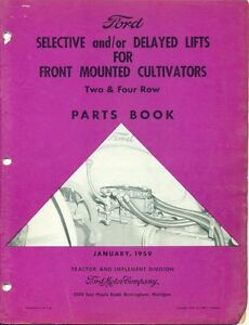 Ford Parts Book Front Mounted Cultivators Lifts pa 6995 af 6