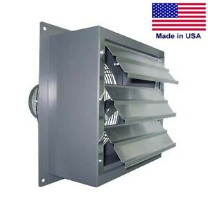 Variable Speed Wall Exhaust Fan 1 650 Cfm 1 3 Hp 12 Fan 115 230 Volts