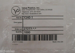 Pack Of 1000 Value Plastics y Tube Fittings With Series 200 Barbs Y240 1