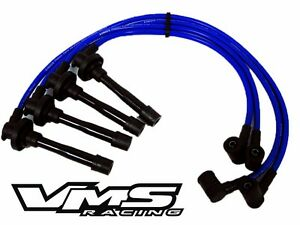 92 01 Honda Prelude H22 Vtec Engine 10 2mm Racing Spark Plug Wires Set Kit Blue