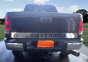 Chevy Silverado Tailgate Molding Outline Stainless Steel Accent Trim 4 5 07 13