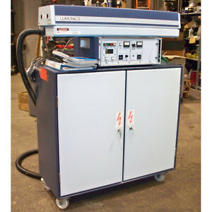 Lumonics Q switched Glass Laser System 1 2kva Cabinet Model Qsg