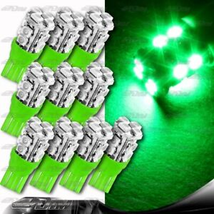10x Green Smd 12led 12v Replacement T10 Wedge Light Bulb 194 2450 2652 2921 2825