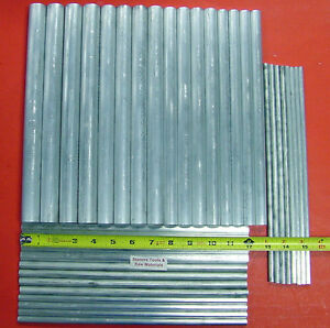 36 Pieces 1 4 To 1 Aluminum 6061 T6511 Round Rod Assortment Bar Stock 13