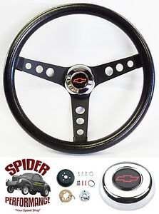 1969 1994 Camaro Steering Wheel Red Bowtie 13 1 2 Classic Black
