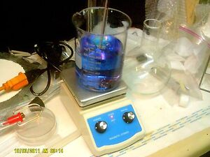 Lab Hot Plate With Integrated Magnetic Stirrer Dual Controls