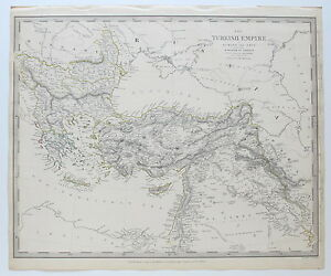 Sduk Map Turkish Empire Cyprus Greece Middle East 1843 Published 1844