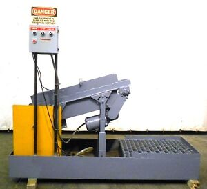 Unknown Brand Parts chip Conveyor Approx 8 Wide Belt