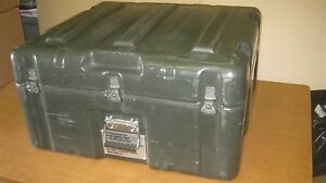 28x26x15 Hardigg Hinged Lid Rotomolded Plastic Military Shipping Storage Case F